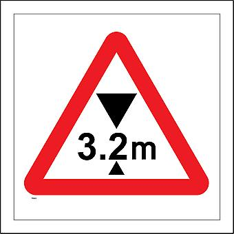 TR083 3.2M Max Height Sign with Triangle