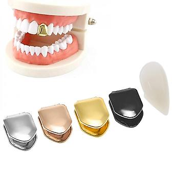 Gold Plated Small Single Tooth Cap Gold Plated Hip Hop Teeth Grillz Caps Top