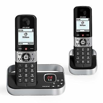 Langaton puhelin Alcatel F890 VOICE DUO DECT Musta/Hopea