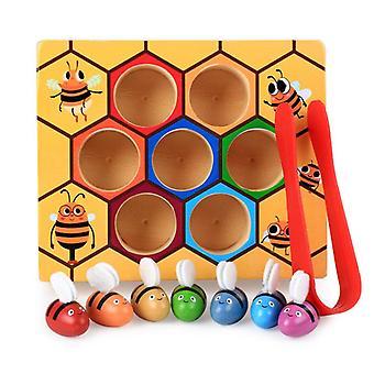 Farvegenkendelse bikube legetøj