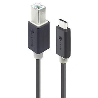 Alogic 1m USB typ B till typ C kabel hane till hane