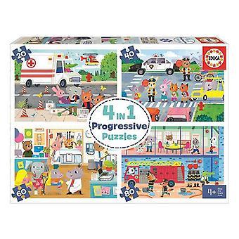 Puzzle Educa 20-40-60-80 animals (48 pcs)