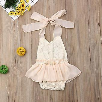 Baby Lace Romper Dress Halter Romper Jumpsuit Outfits Clothes Baby