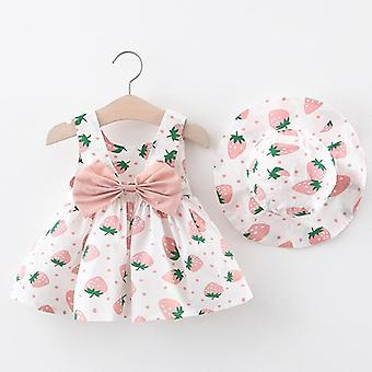 Baby Dress With Hat 2pcs Clothes Sets