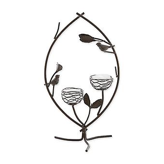 Gallery of Light Birds and Branches in Harmony Double Tealight Candle Holder, Pack of 1