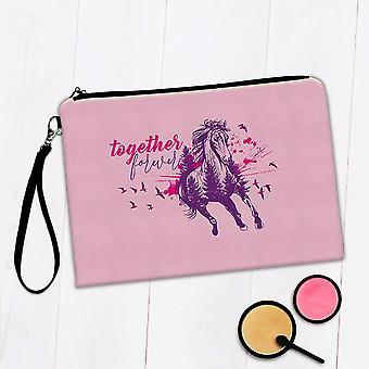Gift Makeup Bag: Together Forever Running Horse For
