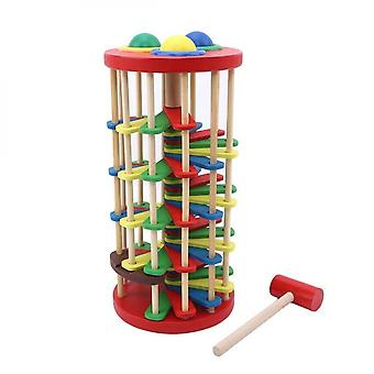 Knock The Ball Rolling Off Ladder Baby Toys Early Education Puzzle