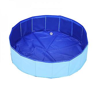 Pet Equipment Foldable Swimming Pool, Easy To Clean, Durable And Convenient (blue)