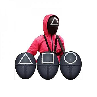 Squid Game Villain Red Jumpsuit Mask Cosplay Christmas Costume Halloween Costume
