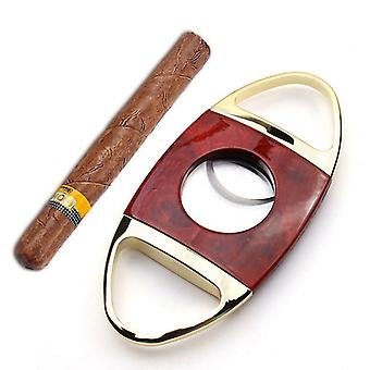 Zigarrenschneider Edelstahl Doppelklinge Zigarre Guillotine Pocket Cigar Clippers für Männer