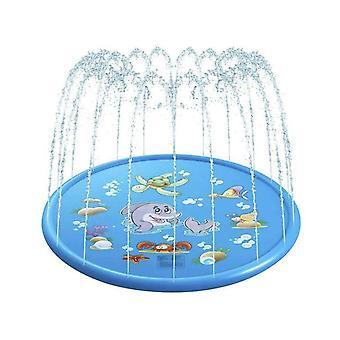 Splash Pad Saugnapf 170cm Wasserspielmatte Party Sprinkler Splash Pad Sommer Spray Spielzeug für Kinder und Haustiere Outdoor Garten Familienaktivitäten
