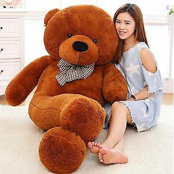 Bruine gevulde gigantische teddybeer pluche speelgoed grote omhelzing kinderen doll liefhebbers / kerstcadeaus verjaardagscadeau