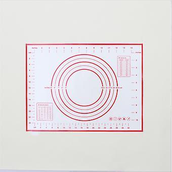 Keittiö Tarttumaton silikoni astiat taikina matto Korkean lämpötilan kestävä-30 X 40 cm punainen