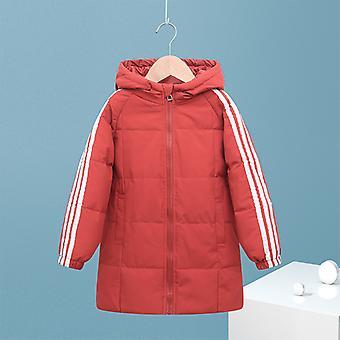 Burgundi gyermek down kabát gyermek hosszú kabát fiúk és lányok pamut kabát