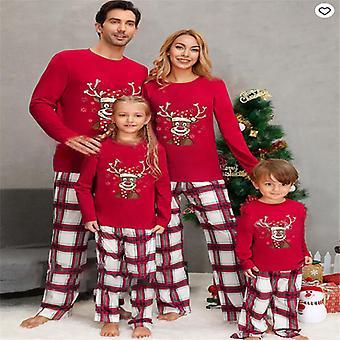 Weihnachten Familie Passende Pyjama Nachtwäsche Pjs Set Rentier Papa Kinder Nachtwäsche