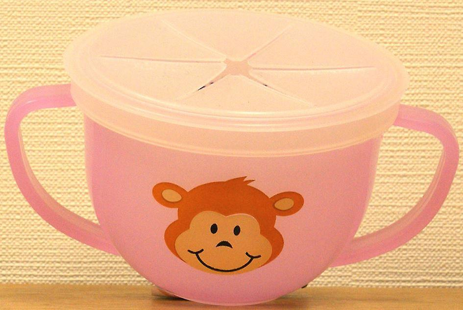 Snack-Trap Anti-Spill Snack Cup Pink