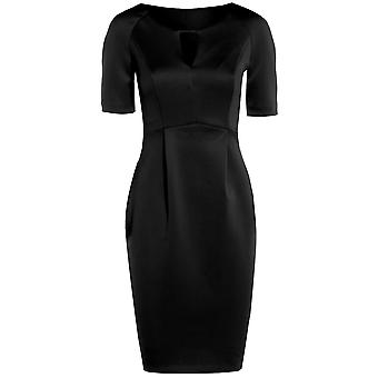 Scuba Cut Out Shift Dress DR866-Black-12