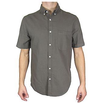 Topman хаки короткий рукав рубашки TP494-XXS