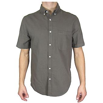 Topman Khaki kortærmet skjorte TP494-XXS