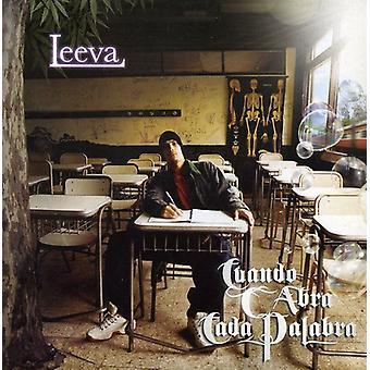 Leeva - Cuando C Abra Cada Palabra [CD] Yhdysvallat tuoda