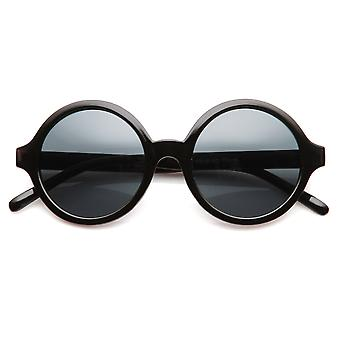 Classic Retro Fashion Round Circle Horned Rim Sunglasses