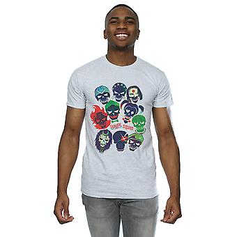 Suicide Squad Men's Band Of Skulls Filled T-Shirt