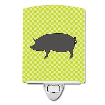Каролинских сокровища BB7759CNL Беркшир свиньи зеленого керамические ночной свет