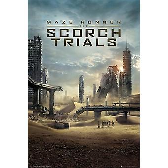 Maze Runner 2 - Scorch Trials Poster Poster Print