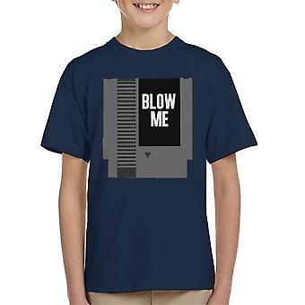 NES Cartridge Blow Me Kid's T-Shirt