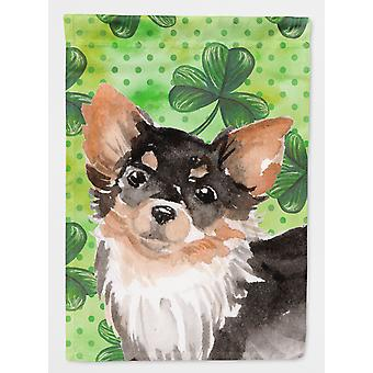 Long Haired Chihuahua St. Patrick's Flag Garden Size