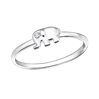 Elephant - 925 Sterling Silver Jewelled Rings - W31463x
