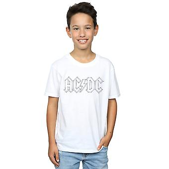 AC/DC drenge sort kontur Logo T-Shirt