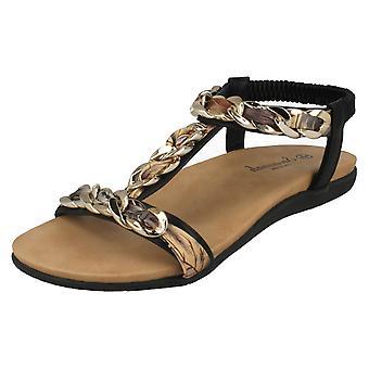 Ladies Savannah Braided Chain Sandals F00063