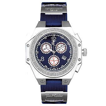 Joe Rodeo diamond men's watch - SHAPIRO silber 1.5 ctw