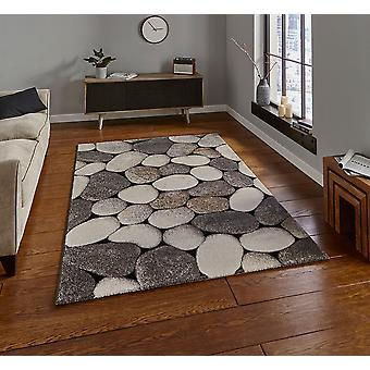 Woodland Think 2099 Cream Grey  Rectangle Rugs Modern Rugs