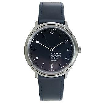 Mondaine ladies watch Helvetica No1 wristwatch MH1. R2240. LD leather