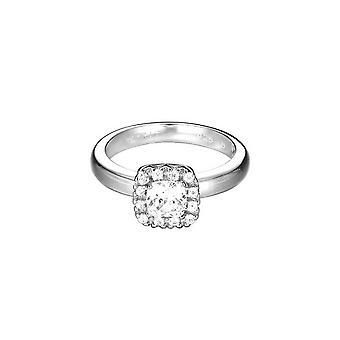 La mujer ESPRIT anillo inoxidable acero Solitaire plata Circonita ESRG92359B1