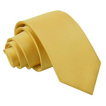 Cravatta in raso di oro pianura regolare per i ragazzi