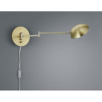 Trio Lighting Calcio Modern Brass Matt Metal Wall Lamp