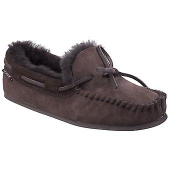 Cotswold Womens Stanway schapenvacht Moccasin slipper