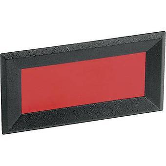 Mentor 2656,8422 ansikt ramme svart, rød (b x H x D) 64 x 28 x 2,3 mm Akrylnitril butadien styren