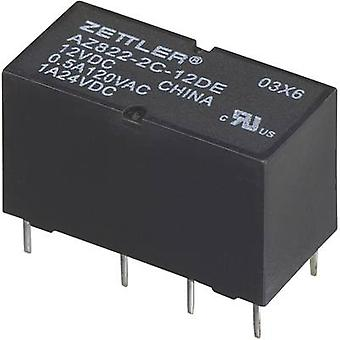 Zettler Electronics AZ822-2C-12DSE PCB relay 12 V DC 2 A 2 change-overs 1 pc(s)