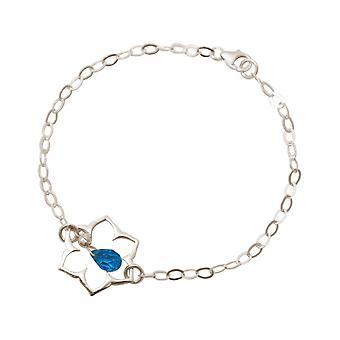 Ladies - earrings - 925 - Lotus Flower - mandala - Topaz quartz - drops - blue - YOGA
