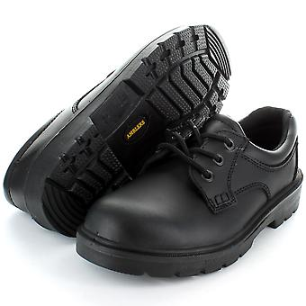 Amblers Steel FS41 Black Safety Steel Toe Cap Leather Work Shoe Black