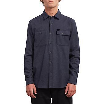 Volcom Hickson uppdatera långärmad skjorta i Midnight Blue