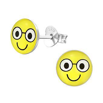 Улыбка лица - 925 стерлингового серебра красочные уха шпильки - W35423x