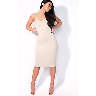 IKRUSH Odzież Saskia Midi Luxe bandaż sukienkę