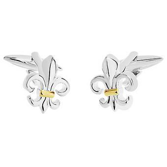 Zennor Fleur De Lis Manchetknopen - zilver/goud