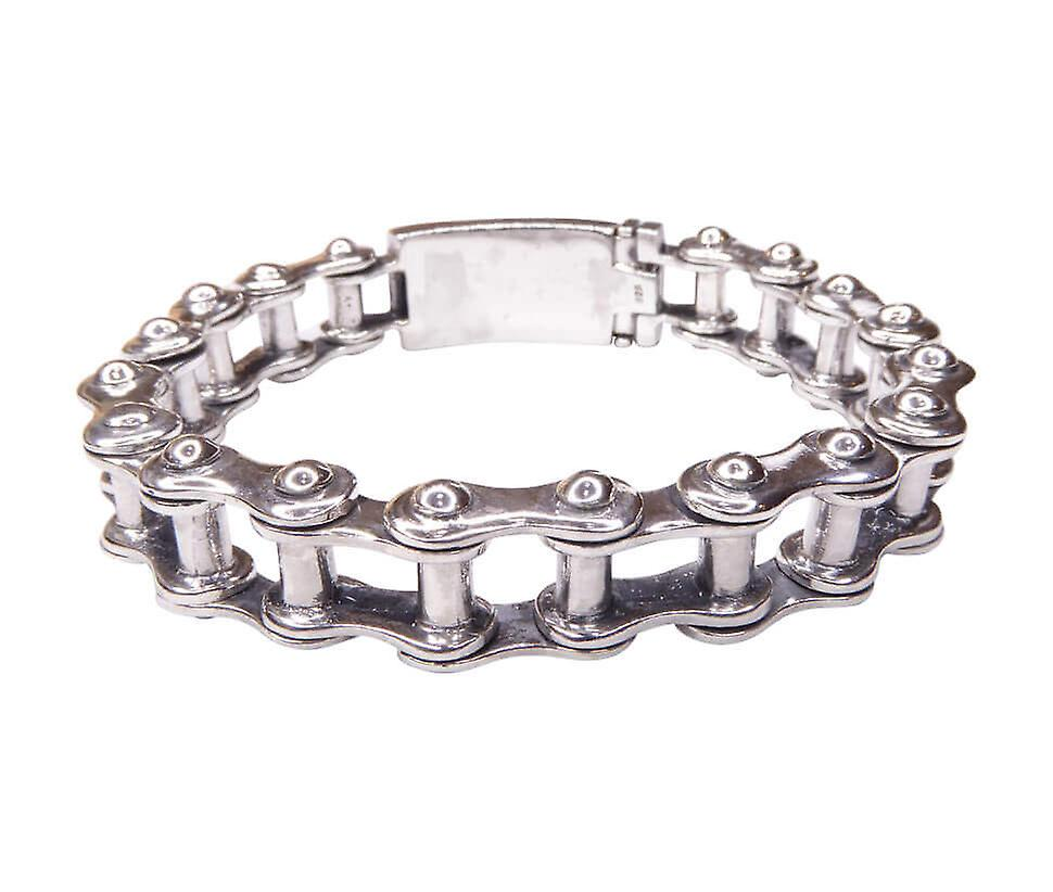 Bicycle chain silver bracelet