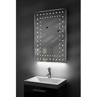Ambient Przekraczajšcy-szczupły łazienka LED lustro z kropli Pad & czujnik K43T